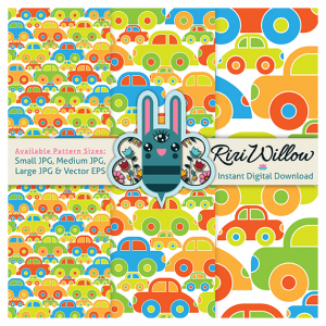 Cutie Cars Pattern Preview